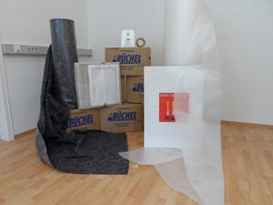 Wohmzimmer Umzugskartons